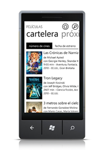SensaCine para Windows Phone 7