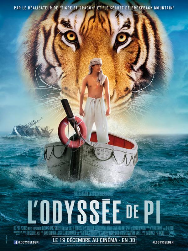 Horaires séances du film L'Odyssée de Pi à cournon d'auvergne