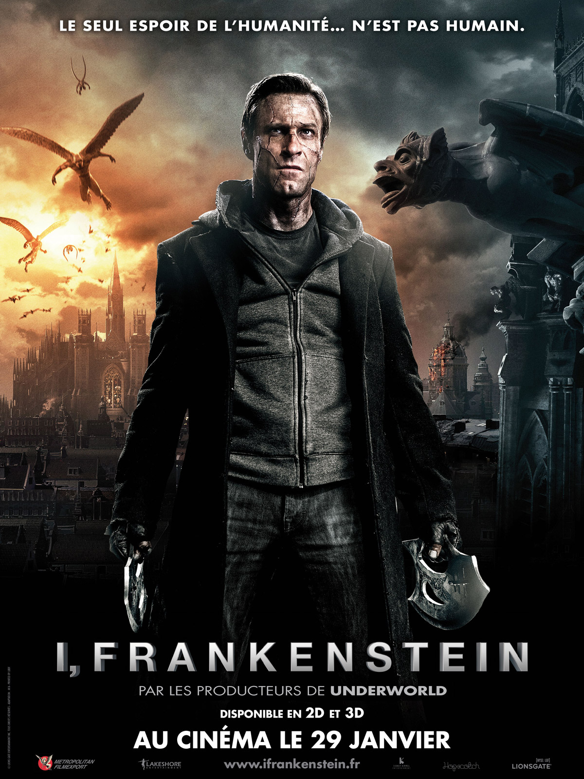 Regarder I, Frankenstein en streaming