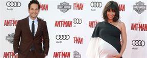 Ant-Man: Paul Rudd à taille humaine et Evangeline Lily enceinte à l'avant-première du film.