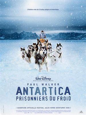 affiche Antartica, prisonniers du froid