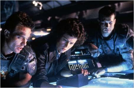 Aliens le retour : photo Bill Paxton, James Cameron, Sigourney Weaver