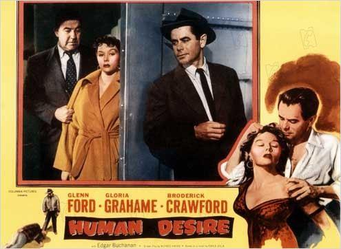 Désirs humains : photo Broderick Crawford, Fritz Lang, Glenn Ford, Gloria Grahame