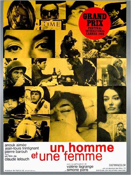 Un Homme et une femme : affiche Anouk Aimée, Claude Lelouch, Jean-Louis Trintignant
