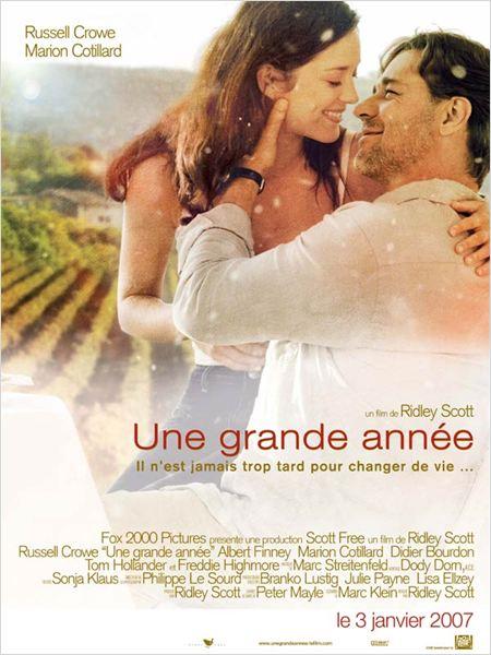 Une grande année : affiche Marion Cotillard, Ridley Scott, Russell Crowe