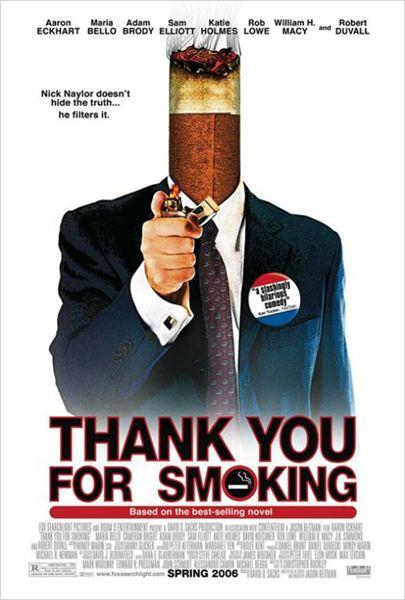 Thank you for smoking : affiche Jason Reitman