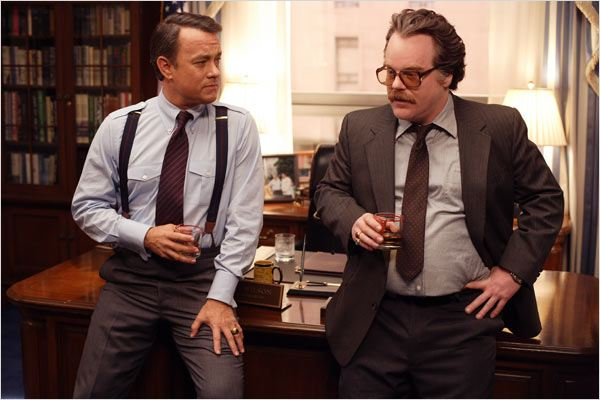 La Guerre selon Charlie Wilson : photo Mike Nichols, Philip Seymour Hoffman, Tom Hanks