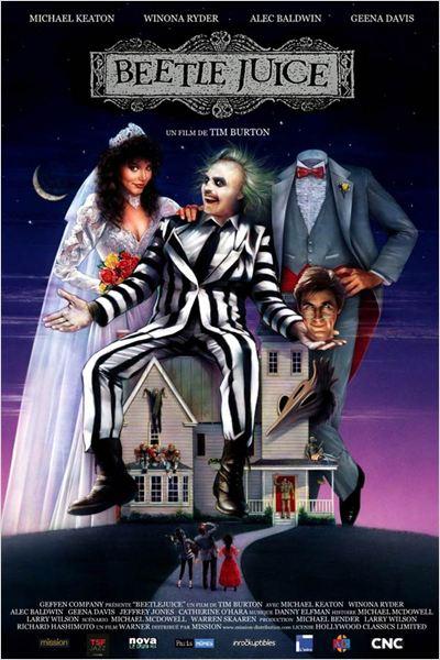 Beetlejuice : affiche Michael Keaton, Tim Burton