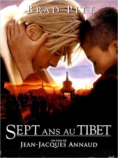 Sept ans au Tibet : Affiche