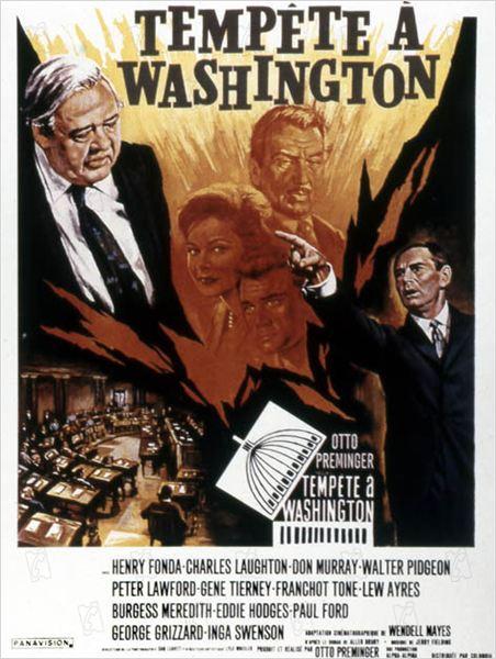 Tempête à Washington : affiche Otto Preminger