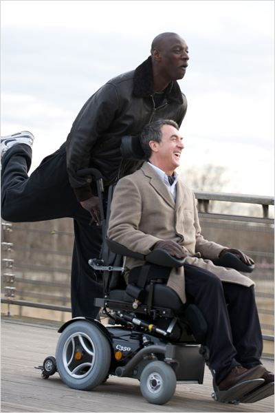 Intouchables : photo Eric Toledano, François Cluzet, Olivier Nakache, Omar Sy
