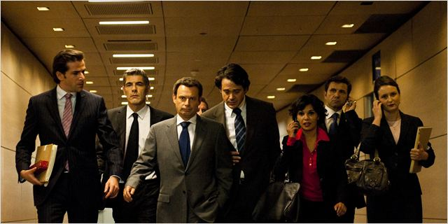 La Conquête : photo Denis Podalydès, Grégory Fitoussi, Mathias Mlekuz, Saida Jawad, Xavier Durringer