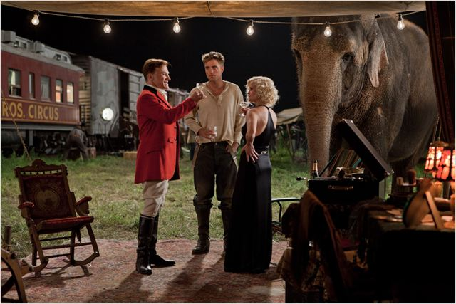 De l'eau pour les éléphants : photo Christoph Waltz, Francis Lawrence, Reese Witherspoon, Robert Pattinson