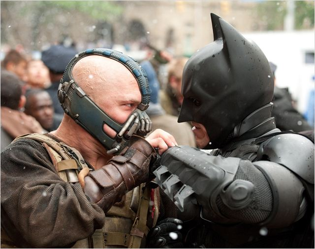 The Dark Knight Rises : photo Christian Bale, Tom Hardy
