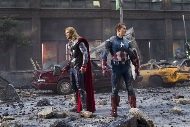 Avengers : photo Chris Evans, Chris Hemsworth