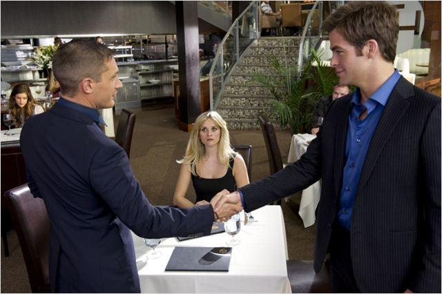 Target : photo Chris Pine, McG, Reese Witherspoon, Tom Hardy
