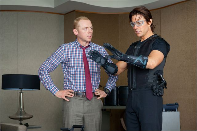 Mission : Impossible - Protocole fantôme : photo Brad Bird, Simon Pegg, Tom Cruise