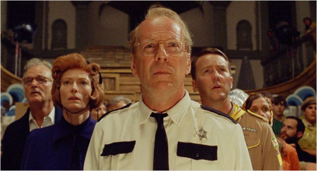 Moonrise Kingdom : photo Bill Murray, Bruce Willis, Edward Norton, Tilda Swinton, Wes Anderson