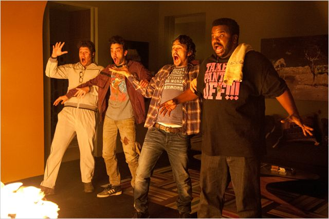 This is the End : photo Craig Robinson, James Franco, Jay Baruchel, Seth Rogen