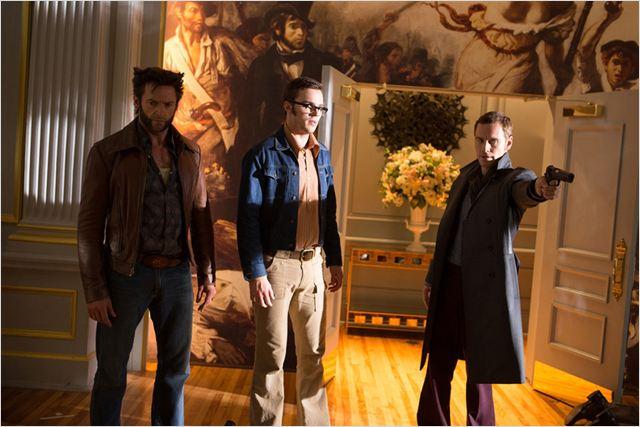 X-Men: Days of Future Past : Photo Hugh Jackman, Michael Fassbender, Nicholas Hoult