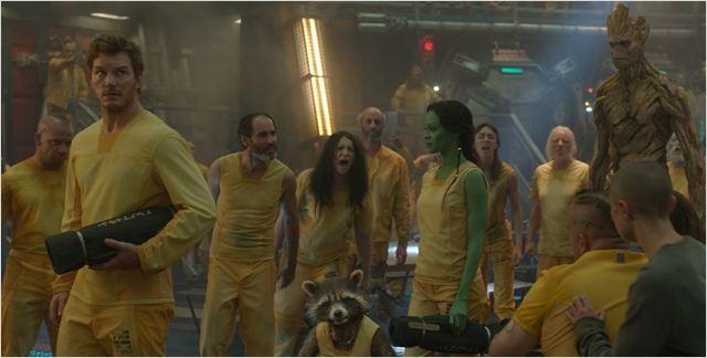 Les Gardiens de la Galaxie : Photo Chris Pratt, Zoe Saldana
