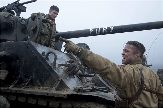 Fury : Photo Brad Pitt, Logan Lerman