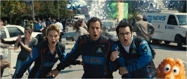 Pixels : Photo Adam Sandler, Josh Gad, Michelle Monaghan