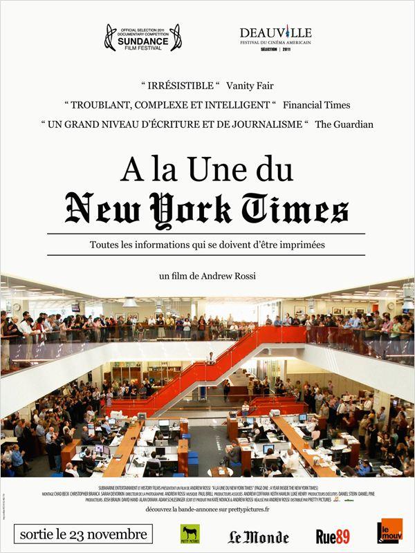 A la une du New York Times  2011 DOCU DVDRip [VO] [FS]