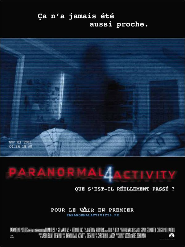 Paranormal Activity 4 ddl