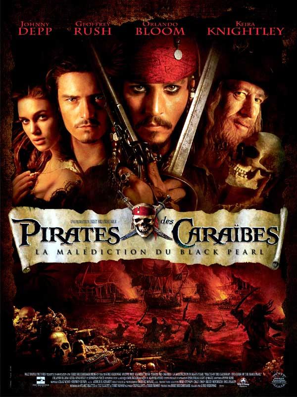 Pirates des Caraïbles : La malédiction du Black Pearl affiche2