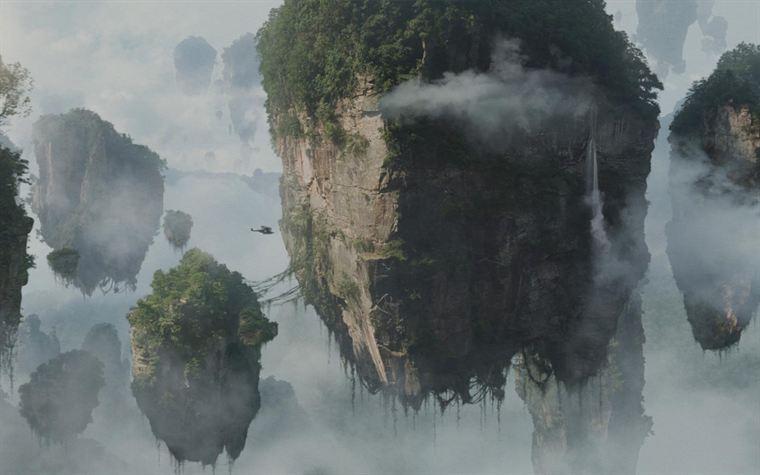 un des environnements fabuleux de la planète Pandora