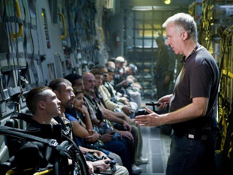 James Cameron sur le tournage d'Avatar
