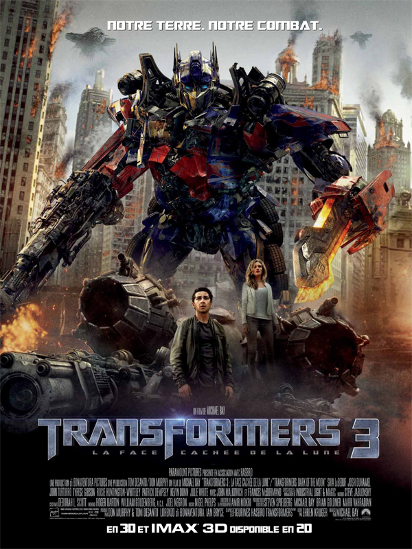 [Films Science fiction, Films Action] - [MU] [DVDRiP] Transformers 3 - La Face cachée de la Lune