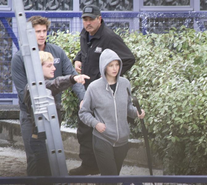 Liam Hemsworth, Josh Hutcherson et Jennifer Lawrence